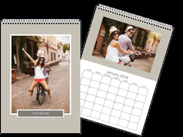 Single page A4 calendar