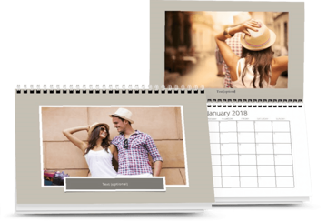 Double page A4 calendar