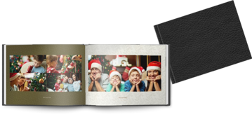 Εικόνα της Leather Black A4 landscape christmas