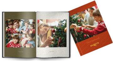 Εικόνα της Printed Hardcover A4 portrait christmas