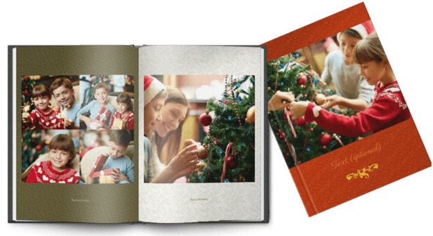 Picture of Printed Hardcover A4 portrait christmas